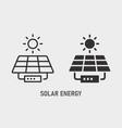solar panel icon on white background