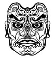 tattoo design of tribal mask vector image vector image