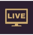 The live tv icon Broadcasting and broadcast vector image