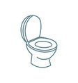 toilet bowl linear icon concept toilet bowl line vector image