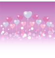 valentines day light blue and pink balloons on vector image vector image