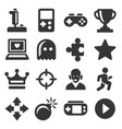 video game and controller icons set vector image vector image