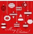 Vintage Christmas Tree Balls vector image vector image