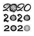 waterpolo 2020 new year numbers vector image vector image