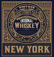 whiskey label with baroque ornaments vector image vector image