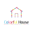 Colorful house vector image