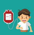 cute boy with bag blood vector image