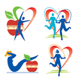 Health fitness icons vector image