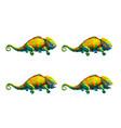sprite sheet of cute chameleon game art animation vector image