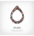 splash people symbol vector image