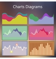 design infographic template with charts diagrams vector image