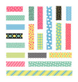 adhesive stripe with fancy texture scrapbook vector image vector image