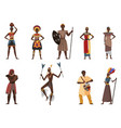 african tribe people native village ethnicity set vector image vector image