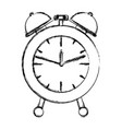 alarm clock blurred silhouette on white background vector image vector image