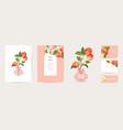 apple invitation card wedding vintage vector image vector image