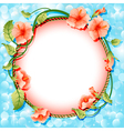 background frame with flowers vector image