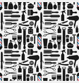 barbershop accessories seamless pattern vector image