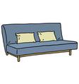 Blue sofa vector image vector image