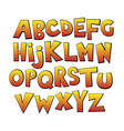 bright cartoon colorful comic graffiti font vector image vector image