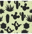 Cactuses and plants stylized natural seamless vector image vector image
