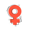 cartoon female sex symbol icon in comic style vector image vector image