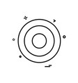 cd icon design vector image vector image