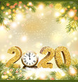 christmas and happy new year holiday 2020 vector image vector image