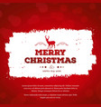 christmas greetings card with red background red vector image vector image