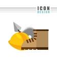 construction icon design vector image vector image