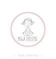 cute girl yoga exercising vector image