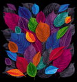 dark leaves background vector image vector image