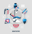 dentistry flat design concept vector image vector image