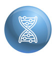 dna formula icon outline style vector image
