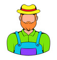 farmer icon cartoon vector image vector image