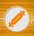 Flat for active lifestyle Longboard vector image vector image