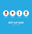 flat icon sweet set of delicious bitter vector image vector image