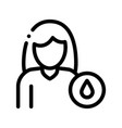 frequent urination symptomp pregnancy icon vector image vector image