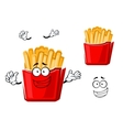 Funny cartoon french fries on paper cup vector image