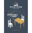 Furniture wood poster vector image vector image
