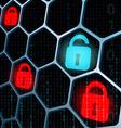 glowing locks security vector image vector image