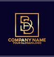 gold logo combine letter s and b vector image