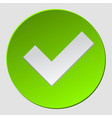 green check in circle check mark sign approved ok vector image vector image
