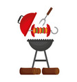 grill barbecue skewer and fork vector image vector image