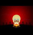 halloween blood eyeball skull bornfire zombie vector image vector image