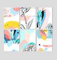 hand drawn abstract creative unusual save vector image vector image