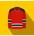 Hockey uniform flat icon vector image vector image