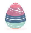 isolated colored easter egg spring season vector image