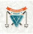 knight historical club badge design vector image vector image