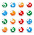 media sticker icons vector image