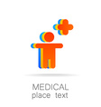 medical logo vector image vector image